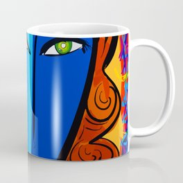 Blue Girl série portrait pop and fauve art Coffee Mug