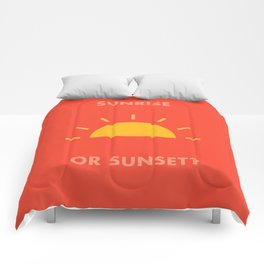 Sunrise / Sunset Comforters