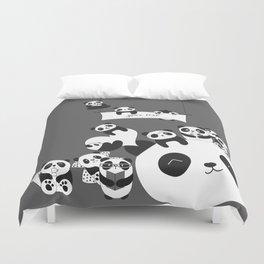 Panda party Duvet Cover