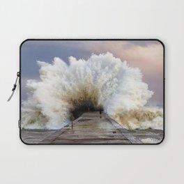 Big Wave Breakin At Little Pier Ultra HD Laptop Sleeve