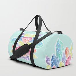 Crystals Green Duffle Bag