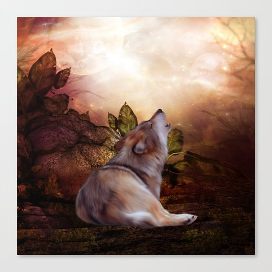 Awesome wolf Canvas Print