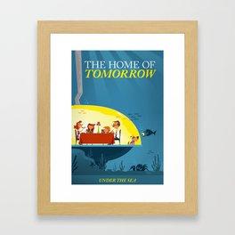 Undersea Home of Tomorrow Framed Art Print