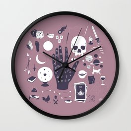 Methods of Divination - Purple Wall Clock