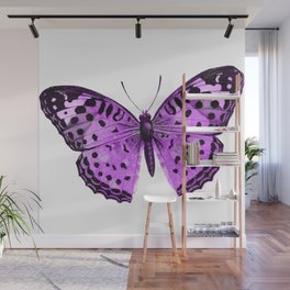 Luxurious Lilac-Pink Butterfly Wall Mural
