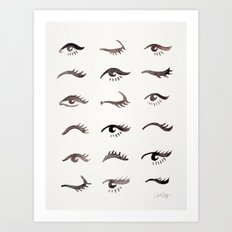 Mascara Envy – Black Palette Art Print