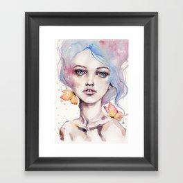With Elegance (female Portrait) Framed Art Print