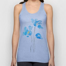 abstract Himalayan poppy flower watercolor Unisex Tank Top