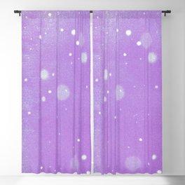 Vintage snow and purple sky Blackout Curtain