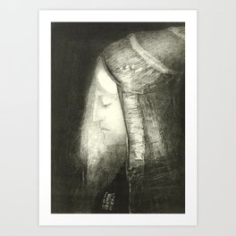 "Odilon Redon ""Profile of Light (Profil de lumière)"" Art Print"
