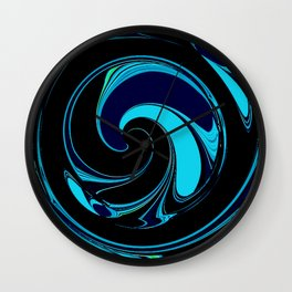 Dark Ocean Waves Wall Clock