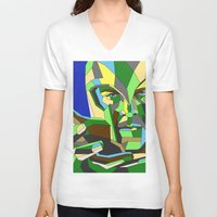 magneto V-neck T-shirts featuring Magneto by Liam Brazier