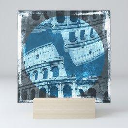Alt Process Colosseum Cyan Mini Art Print