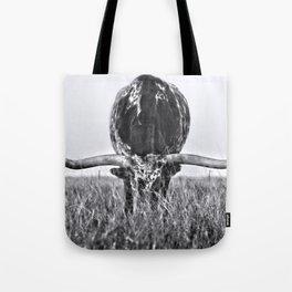 B&W Longhorn Tote Bag