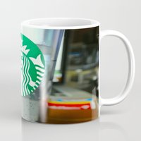 starbucks Mugs featuring STARBUCKS by Marco ☁ Gasperi