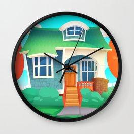 Fun Cartoon House Wall Clock