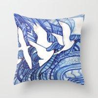 freedom Throw Pillows featuring Freedom by Verismaya