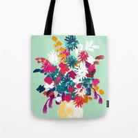 blush Tote Bags featuring Blush by Picomodi