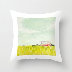 Oil painting house Throw Pillow
