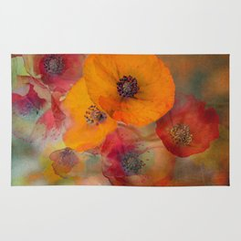 Abstract poppies Rug