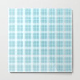 Spring 2017 Designer Color Island Paradise Blue Tartan Plaid Check Metal Print