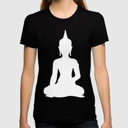 Grey and White Buddha T-shirt