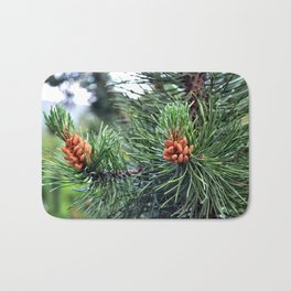 Green pine tree Bath Mat