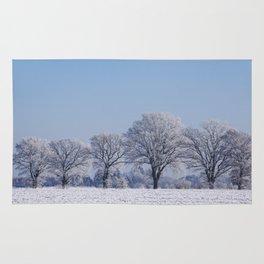 winter walk rural snow landscpape north Germany Rug