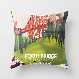 Forth Bridge, Firth of Forth,Scotland Throw Pillow