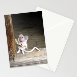 The Mouse Visiting A House Stationery Cards