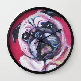 Pug Named Daisy Wall Clock