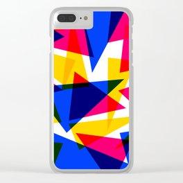 CMYK Shard Clear iPhone Case
