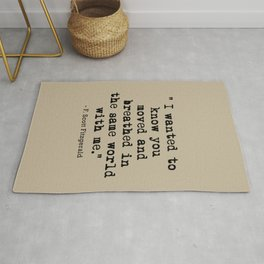 Fitzgerald Quotes Rug