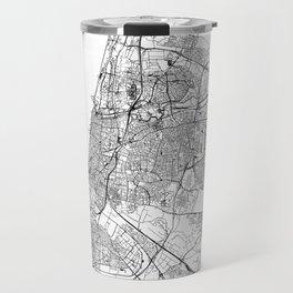 Tel Aviv-Yafo White Map Travel Mug