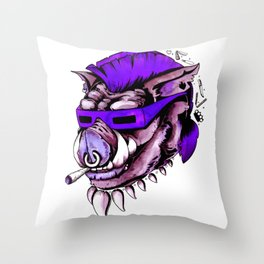 Beebop Don't Stop Throw Pillow