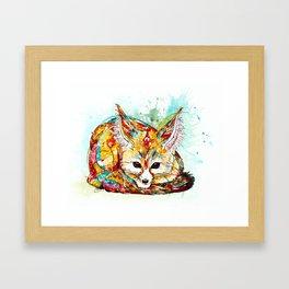 """""""You're So Foxy"""" - Fennec Fox Framed Art Print"""
