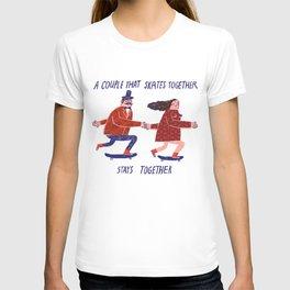 skate couple T-shirt