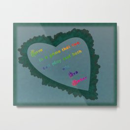 Love Wins - Eva Gabor Metal Print