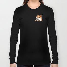 Pocket Shibe (Shiba Inu, Doge) Long Sleeve T-shirt