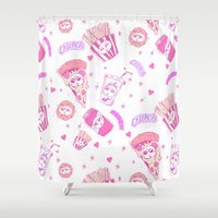 junk food Shower Curtains featuring JUNK by bb0t