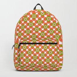 Green & Orange Flowers Retro Backpack