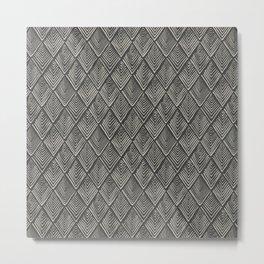 Treeometric - Grey & Black Metal Print