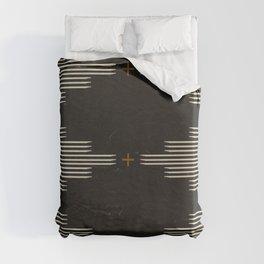 Southwestern Minimalist Black & White Duvet Cover