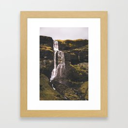 Waterfall Somewhere in Southern Iceland. Framed Art Print