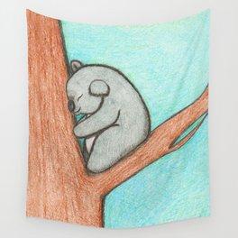 Sleepy Koala Wall Tapestry