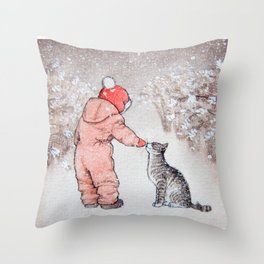 Snowberry Alley Throw Pillow