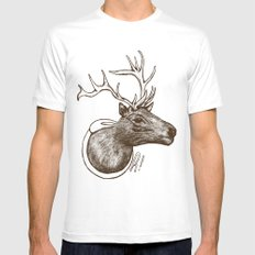 Oh Deer! MEDIUM Mens Fitted Tee White