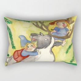 Elves and Reindeer Rectangular Pillow