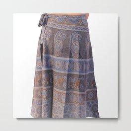 Indian Art Printed Skirt Metal Print