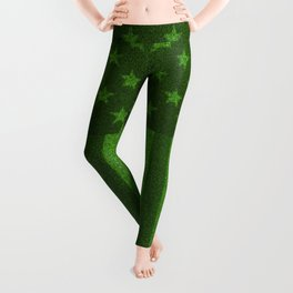 The grass and stripes / 3D render of USA flag grown from grass Leggings